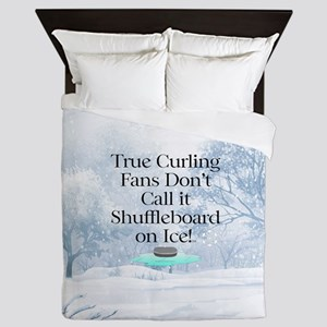 Curling Slogan Queen Duvet